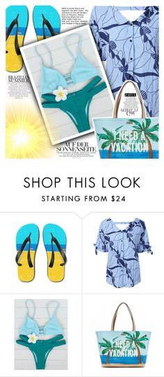 """""""Sun is up"""" by vanjazivadinovic ❤ liked on Polyvore featuring Kate Spade, Whiteley, polyvoreeditorial and zaful"""