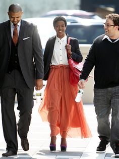 The Miscalculation of Lauryn Hill: Lauryn arrives at tax court looking stunning and ready to...er hopefully pay her taxes.
