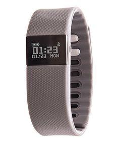 Love this Gray Zunammy Activity Tracker Strap Watch by Zunammy on #zulily! #zulilyfinds