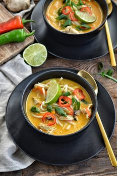 Asian Recipes, Healthy Recipes, Ethnic Recipes, Polish Recipes, Health Diet, Thai Red Curry, Soup Recipes, Food And Drink, Tasty