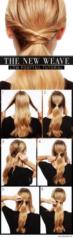 The new weave – Low ponytail tutorial - BeaLady.net