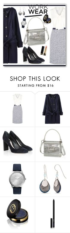 """""""Tweed Work Wear"""" by brendariley-1 ❤ liked on Polyvore featuring Oscar de la Renta, Christian Dior, Roger Vivier, Larsson & Jennings, Silver Forest, Gucci and NARS Cosmetics"""