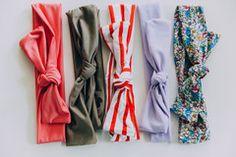 Paparo Kids™ Jersey Cotton Topknot Baby Turbans (6-12M)
