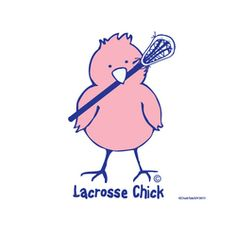 Lacrosse Chick sticker!  Awesome sticker for any girl's/women's Lacrosse player!  Only on www.lax.com