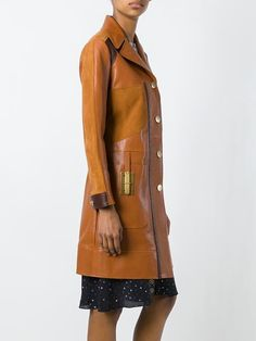 Coach panelled coat