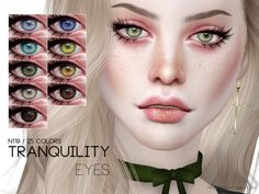 Eyes in 25 colors Found in TSR Category 'Sims 4 Eye Colors' Source: Pralinesims' Tranquility Eyes Sims 4 Game Mods, Sims Mods, Sims 4 Tsr, Sims Cc, Sims 4 Stories, Sims 4 Cc Eyes, The Sims 4 Skin, The Sims 4 Packs, Sims 4 Cc Makeup