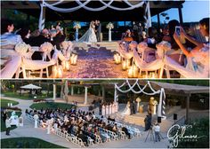 Overhead view, wilson creek winery-temecula-wedding ceremony photo, dusk, sunset, gilmore studios, wedding design, planning, candlelight wedding, GilmoreStudios.com