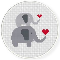 FREE for June 3rd 2016 Only - Mother And Child Elephant Love Cross Stitch Pattern: