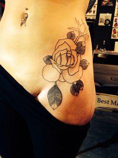 Rose Hip Tattoo Outline