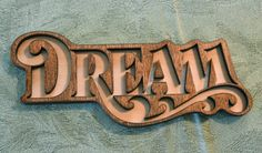 Dream Door Magnet  Laser Cut Birch Knockout by SweetHollowMedia