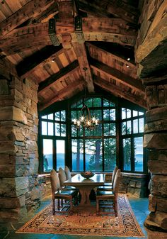 Ein verträumter Bergurlaub in Montana: Great Northern Lodge . A dreamy mountain vacation in Montana: Great Northern Lodge Rustic Home Design, Rustic Style, Rustic Homes, Cabin Interiors, Wood Interiors, Log Cabin Homes, Log Cabin Bedrooms, Log Cabins, Timber Frame Homes