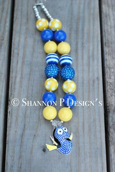 A personal favorite from my Etsy shop https://www.etsy.com/listing/400944847/finding-dory-chunky-necklace-dory