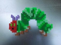 perler very hungry caterpillar from this pattern: http://pinterest.com/pin/352899320771950163/