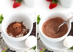 Molten Chocolate Mug Cake {Takes 5 minutes from start to finish! With a moist, cakey outside and a gooey, saucy inside, YOU WILL NOT BELIEVE THIS IS MADE IN THE MICROWAVE!}