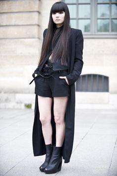 fyeahkozueakimoto:  unseen picture of Kozue at Paris fashion week