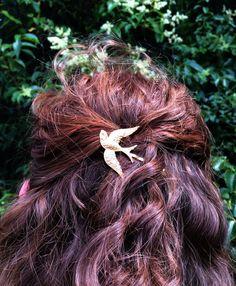 Gold Bird Hair Pin Gold Bobby Pin Gold Barrette Bird Bobby Pin Wedding Hair Pin Bird Barrette Hair Pins Bird Barrette Bridal Hair Pins