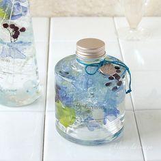 ハーバリウム 重ねられるスタッキングボトル 4色(ピンク・イエロー・グリーン・ブルー)