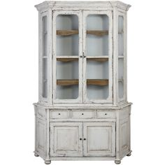 Camille White Shabby Chic Cabinet - French Country