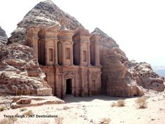 #Monastery #Petra #Jordan #Nabatean #Temple #World #Heritage #Site Heritage Site, Petra, Monument Valley, Mount Rushmore, Temple, Destinations, Mountains, World, Nature