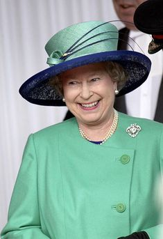 The Queen At Windsor Castle Laughing As She Waits For Her State Visit Guests.