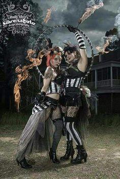 Deconstructed circus, tribal circus, circus savages, tattered circus, new old circus Dark Circus, Old Circus, Night Circus, Vintage Circus, Circo Steampunk, Steampunk Circus, Creepy Circus, Creepy Carnival, Halloween Carnival