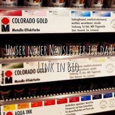 Unser Newsletter über den Farbenrausch im Mai von Colorado Gold bis Chrome Ballons. Link in Bio. #newsletter #new #gold #metallic #marabu #aquaink #chrome #balloons #diy #farbenrausch #colours #colorrush #colouroftheday #allesneu #may #spring Mai, Colorado, Broadway Shows, Balloons, Trends, Store, Link, Gold, Colors
