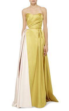 Mendel Pre Fall 2016 Look 7 on Moda Operandi Couture Fashion, Runway Fashion, Fashion Outfits, I Love Fashion, High Fashion, Nice Dresses, Formal Dresses, Shades Of Yellow, Types Of Fashion Styles