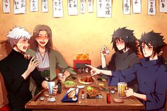 Sinju hashirama and tobirama....uchiha madara and izuna