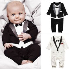 Fashion Newborn Baby Boys Cotton Long Sleeve Rompers Kids Climb Toddler Infant Gentleman Modelling Clothing-in Rompers from Apparel & Accessories on Aliexpress.com | Alibaba Group $7.99