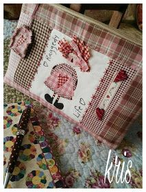 Patch Quilt, Quilt Blocks, Patchwork Quilting, Applique Patterns, Quilt Patterns, Cute Purses, Purses And Bags, Stitch Patch, Cute Quilts