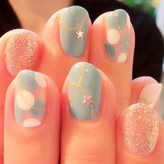 Glitter Lightblue Nails