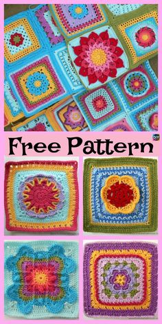 Good No Cost Granny Squares mandala Tips Crochet Granny Squares function up quic. : Good No Cost Granny Squares mandala Tips Crochet Granny Squares function up quickly, nevertheless weaving in the ends takes time. Crochet Headband Pattern, Crochet Poncho Patterns, Granny Square Crochet Pattern, Crochet Squares, Crochet Granny, Crochet Ideas, Crochet Pouch, Quick Crochet, Crochet Projects