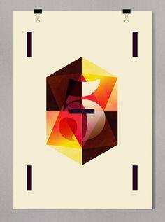 """C.I.N.C.O"" / Graphic Edition 70x100 / Madrid 2012 / Alberto Carballido, freelance graphic designer"