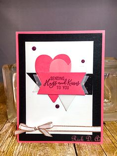 Today, I am going to share with you another alternative project for this month's Paper Pumpkin Kit. This month's kit was entitled Heartfelt Love Notes. It was filled with some beautif… Love Valentines, Valentine Day Cards, Paper Craft Making, Valentine's Day Crafts For Kids, Card Patterns, Paper Pumpkin, Love Notes, Anniversary Cards, Homemade Cards
