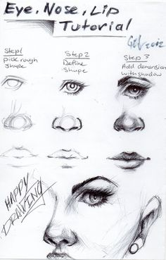 Eye, nose and lip tutorial! It's in the shadows