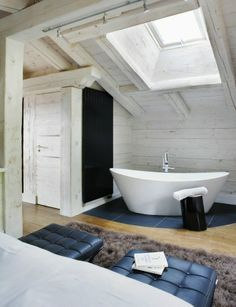 Love the bath: House in Megeve