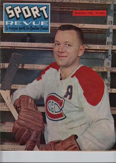 Featured is a April 1961 Sports Revue Hockey Magazine with Doug Harvey on the Cover. Magazine is in excellent condition. Hockey Cards, Baseball Cards, Montreal, Magazine, Cover, Sports, Sport, Warehouse, Blankets