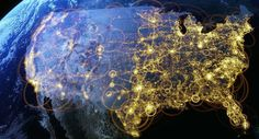 Secret corpse flights, pizza boy delivery routes and the daily commute: Stunning aerial images reveal never-before-seen side of America Visualisation, Data Visualization, Creators Project, Aerial Images, Ex Machina, Illustrations, The Incredibles, The Unit, World