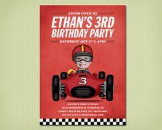 race car birthday invite by jjelliot on Etsy, $36.00