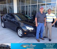 Congratulations to Keith Grubaugh on your #Chevrolet #Cruze purchase from Jose Santiago at Crossroads Chevrolet Cadillac! #NewCar