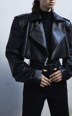 Eduarda Moto Leather Jacket by KHAITE for Preorder on Moda Operandi Black Girl Fashion, Look Fashion, High Fashion, Fashion Outfits, Fashion Design, Travel Outfits, Fashion Poses, Classy Fashion, Vogue Fashion