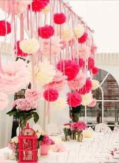 Party Ideas....I am so addicted to these for party decorations. They take some time but cheap and easy to make.