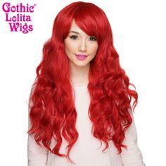 Gothic Lolita Wigs® <br> Classic Wavy Lolita™ Collection - Crimson Red -00038