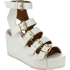 Qupid Alert-02 Women's Strappy Gladiator Platform Wedge Sandals