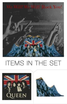 """""""We Will Rock You - Queen"""" by dprice15 ❤ liked on Polyvore featuring art"""