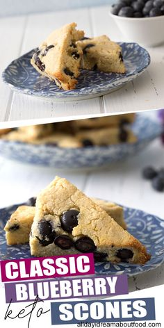 Classic Blueberry Scones – Low Carb, Gluten-Free Simply the best keto blueberry scones! Tender and delicious, and chock full of ripe blueberries. Easy to make and the perfect low carb breakfast treat! Easy Keto Bread Recipe, Keto Recipes, Dessert Recipes, Dessert Ideas, Scone Recipes, Healthy Recipes, Cupcake Ideas, Cream Recipes, Cupcake Recipes