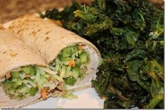 Flatout wrap with fat free cream cheese, turkey, a jalapeno, sprouts, and broccoli slaw.