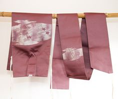 Purple Japanese Vintage Tsuke Obi -a two piece Obi, Table Runner, Home Decor by CJSTonbo on Etsy