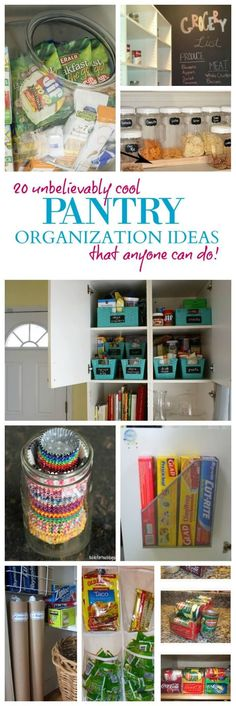 These Pantry Organization Tips will help you get Organized for the New Year and Organize Your Pantry without spending a Fortune!