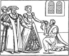 Henry VIII and Anne Boleyn sending Wolsey gifts